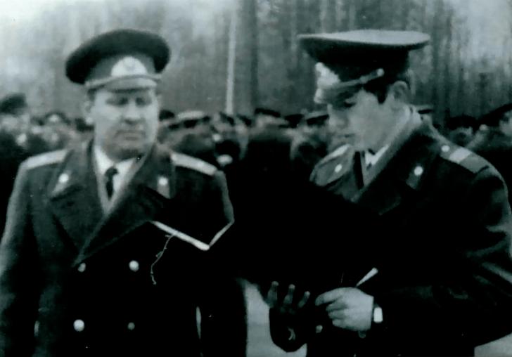 Г.В. Заклинский на присяге 1970 год