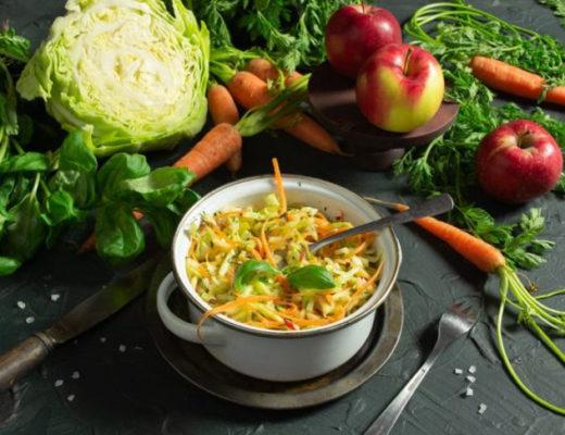 Весенний салат из ранней капусты