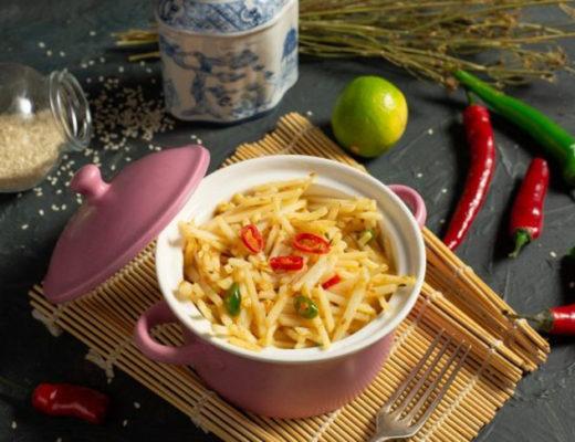 Картофель по-корейски — вкусный овощной салат