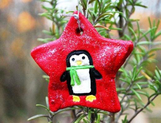 На звездочке можно нарисовать пингвина