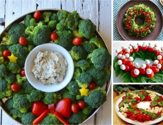 Новогодние блюда в форме рождественского венка