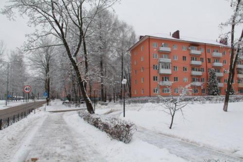 г.Клин, Бородинский проезд, зима 2020/2021 год (Фото В.Кузьмин)