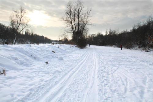 Река «Сестра», зима 2020/2021 год (Фото В.Кузьмин)