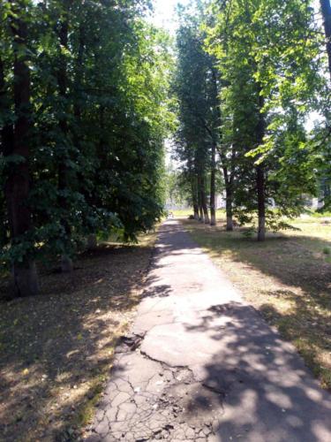 г.Клин, Ленинградское шоссе (фото infoce-klin.ru, июнь 2021 года)