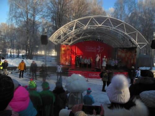 Встреча Деда Мороза (Фото из архива сайта infoce-klin.ru, 2018 год)
