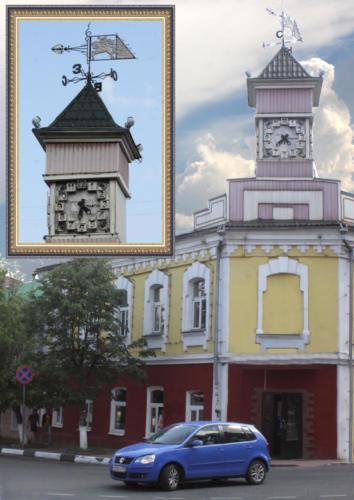 Часы на пересечении улиц Литейная и Ленина (фото из архива В.Кузьмина)