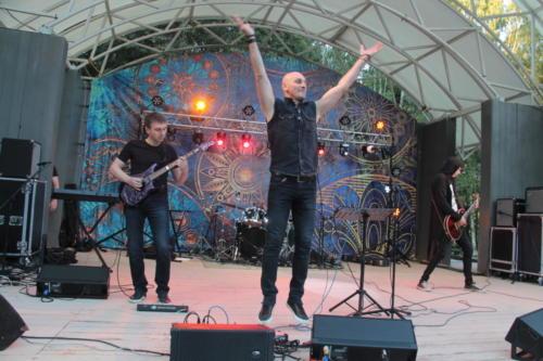 Группа «Ночъ», концерт «Я остаюсь, чтобы жить» в Сестрорецком» парке (фото В.Кузьмин, август 2021)