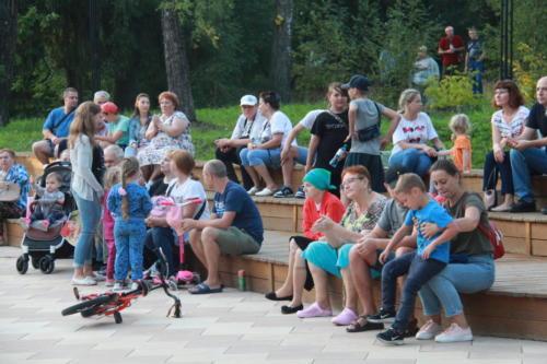 Концерт группы «Лаборатория дождя» в «Зелёном театре» города Высоковск (фото В.Кузьмин, август 2021)